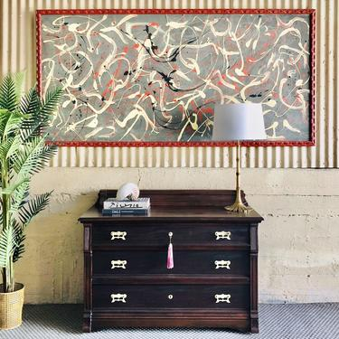European Neoclassical SOLID Mahogany Dresser