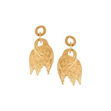 We Dream In Colour Little Gold Swan Earrings