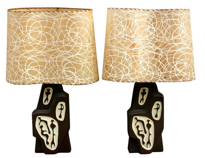 Mid-Century Modern Atomic Mod Lamps Set Of 2