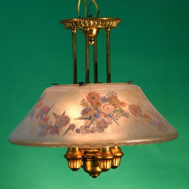 Lightolier Art Deco 1920s Semi Flush Chandelier (MATCHING SET AVAILABLE) by vintagefilament