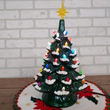 "Vintage 13.5"" Ceramic Christmas Tree by RedsRustyRelics"