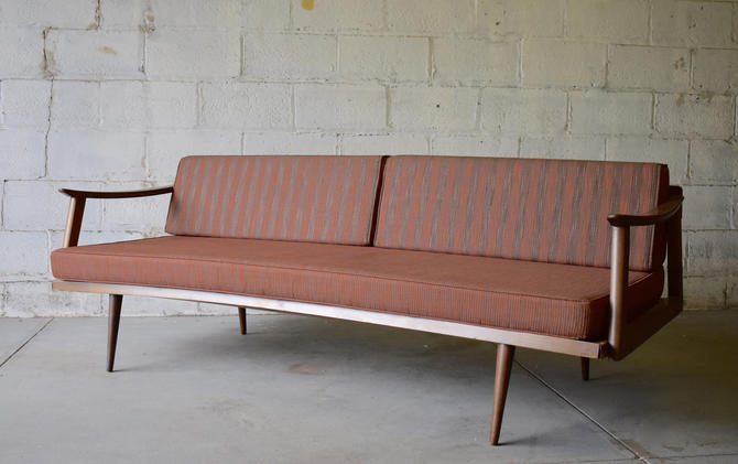 Mid Century Modern WALNUT DAYBED / Couch SOFA danish style by CIRCA60