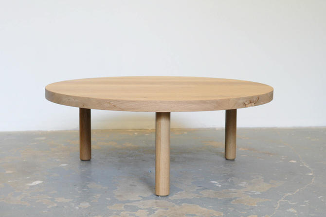 "42"" Round Coffee Table White Oak - Dylan Design Co. by dylangrey"