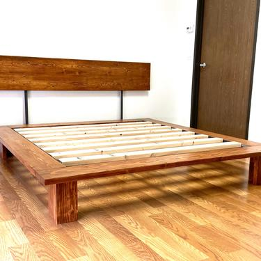 NEW ITEM   Platform Bed And Headboard   Queen Size   Wood Legs   Modern Minimal Design by CasanovaHome