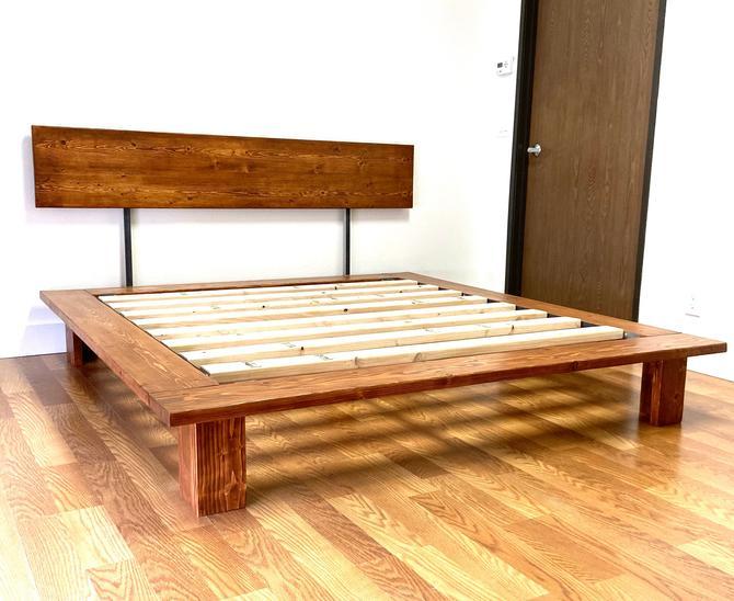 NEW ITEM   Platform Bed And Headboard   Full Size   Wood Legs   Modern Minimal Design by CasanovaHome