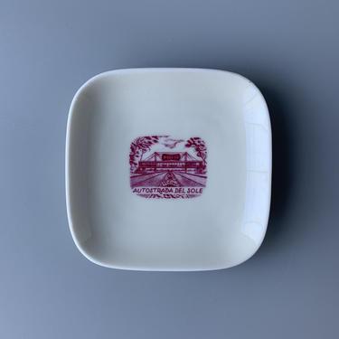 Pavesi Autostrada del Sole Souvenir Ashtray Dish by HomeAnthology