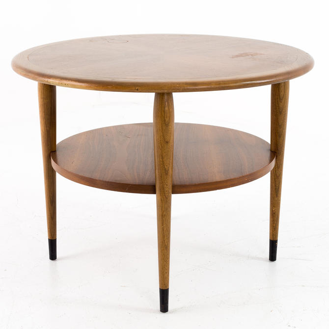 Lane Acclaim Mid Century Two Tier Round Side End Table - mcm by ModernHill