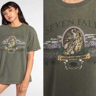 Seven Falls Colorado Shirt 90s T Shirt Colorado Springs TShirt Deer Bear Shirt Vintage Graphic Tee Medium Large by ShopExile