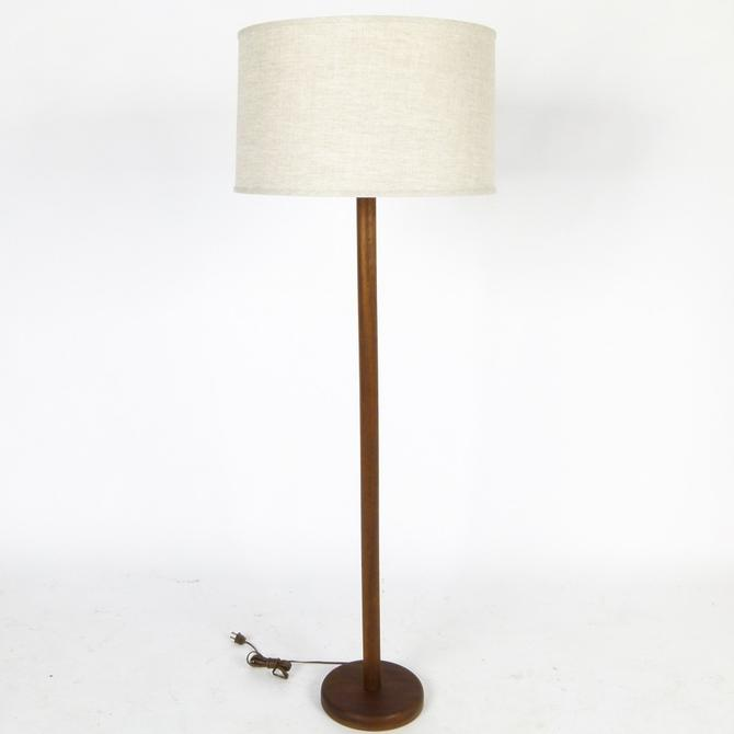 Teak Base Floor Lamp