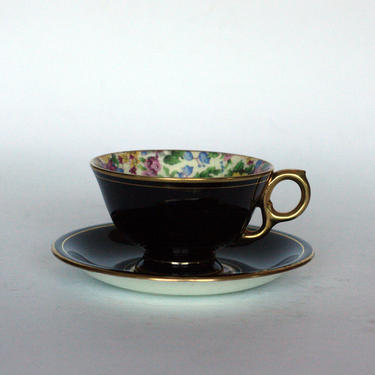 vintage royal winton tea cup with saucer cheadle pattern made in england 1951 by suesuegonzalas