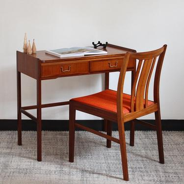 Swedish Desk and Chair in Teak & Afromosia