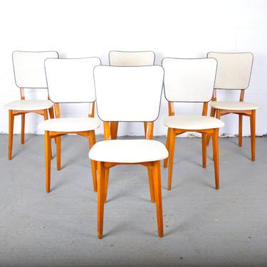 Set of 6 Mid-Century Modern Swedish Birch Dining Chairs by Barn51Store