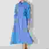 Empyrean Linen Long Shirt Dress