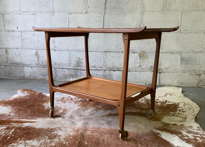 Mid Century Modern Rolling BAR / TEA CART tray table by CIRCA60