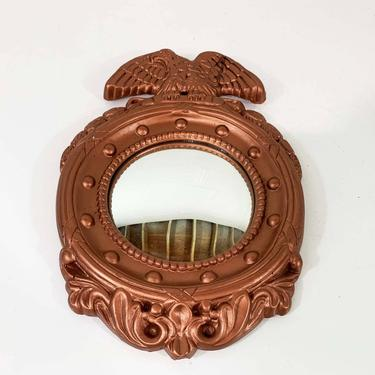 True Vintage Federal Eagle Mirror Bullseye Round Circle Porthole Mid-Century Mantique Rustic Americana USA Boho Rose Gold Copper Nautical by CheckEngineVintage