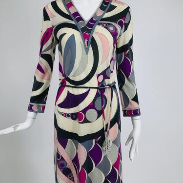 Pucci Cashmere & Silk Fine Knit Dress & Belt 1960s