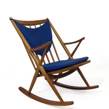 Frank Reenskaug for Bramin Danish Teak Rocking Chair