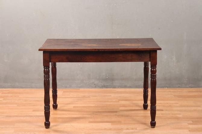 Rustic Crackled Oak Farm Table