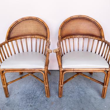 Pair of Island Chic Rattan Chairs