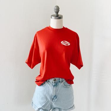 RED SUPER <BR> VALU TEE