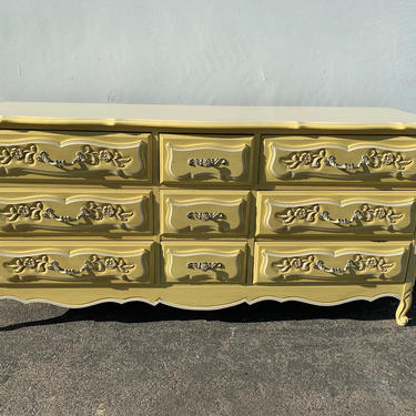 French Provincial Dresser Buffet Tv Stand Console Table Chest of Drawers Neoclassical Shabby Chic Regency Bedroom Storage CUSTOM PAINT AVAIL by DejaVuDecors
