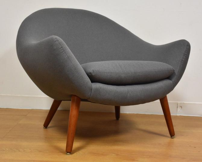 Grey Teak Lounge Chair by mixedmodern1