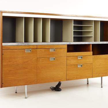 George Nelson For Herman Miller Mid Century Large Walnut Office Credenza - mcm by ModernHill