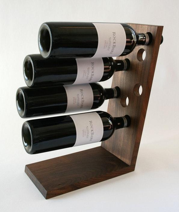 Walnut Wine Rack - Solid American Black Walnut - Table Top by OlivrStudio