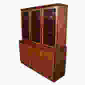 Lighted 2 Piece Danish Modern Rosewood Display Cabinet \/ Storage