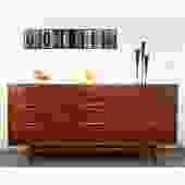 Unusually Beauitful MCM Credenza Dresser Tableau