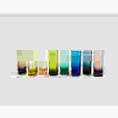 Vintage Rainbow Shot Glasses / Set of 8 by SergeantSailor