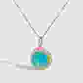 Gemstone Burst Necklace on Petite Chain