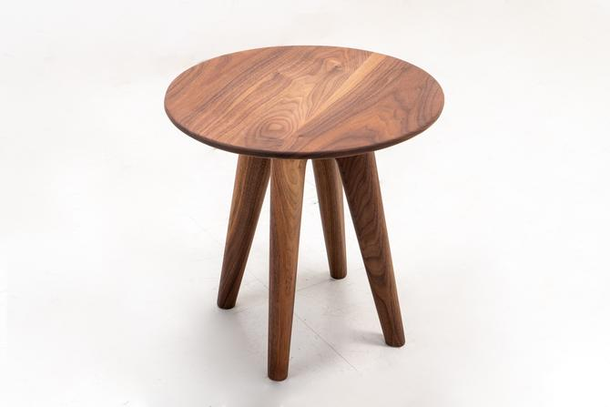 Mid-Century Modern Side Table Walnut by TDFurniture