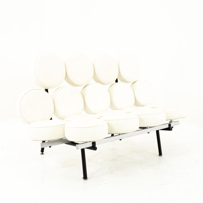 George Nelson For Herman Miller Style Mid Century Marshmallow Sofa White - mcm by ModernHill