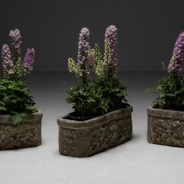 Cast Stone Lion Planters