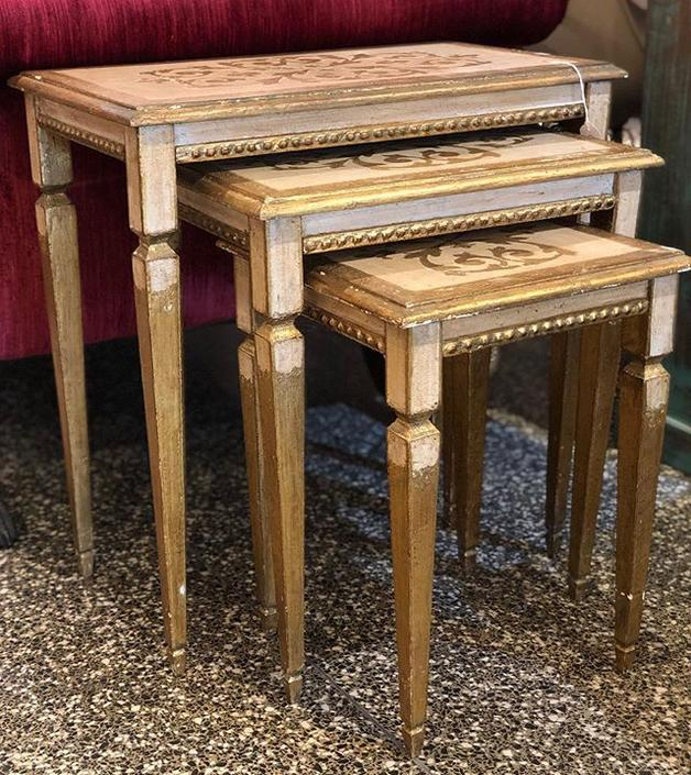 Set of 1950's florentine nesting tables $195!