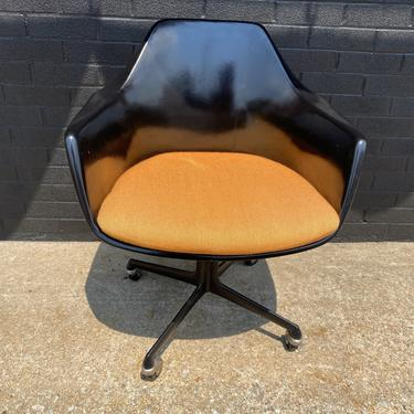 1960s Burke Swivel Shell Office Chair
