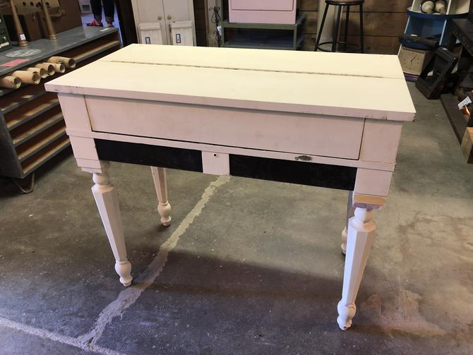 "Cute little desk with 4 drawers 38"" W  20 1/4"" D 32 3/4"" H"