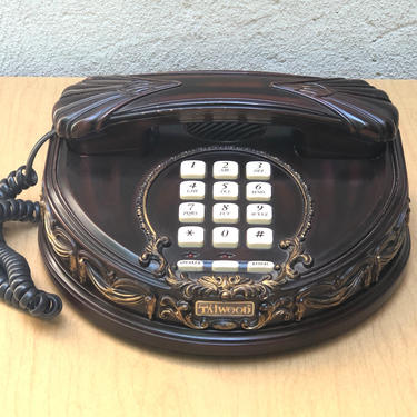 Victoria Taiwood Telephone with Faux Red Wood by ilikemikes
