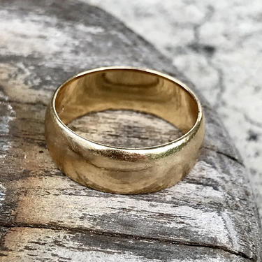 Vintage Men's 14k Art Carved Yellow Gold Wedding Band Estate Jewelry Anniversary by FlyTimesVintage