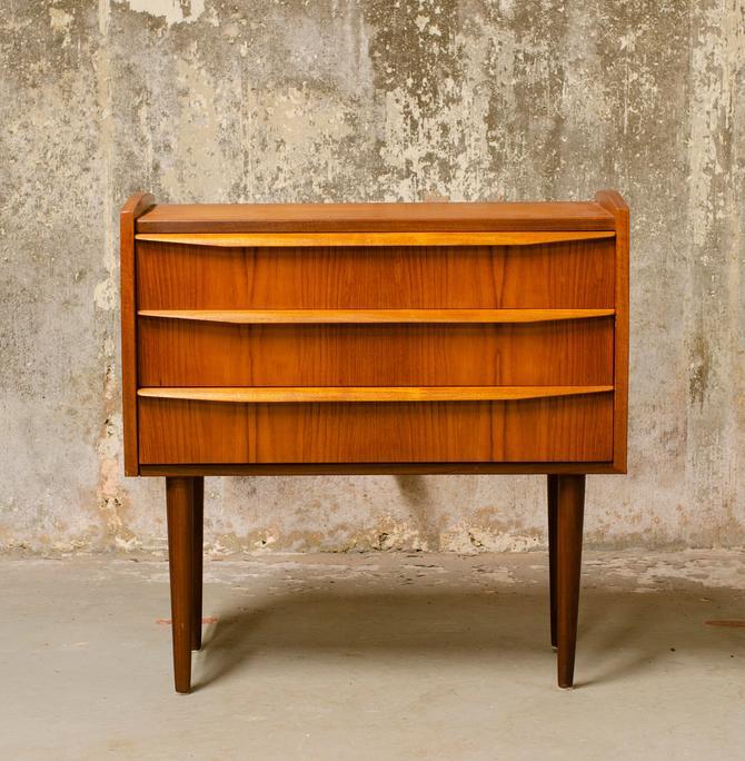 Teak three drawer chest by QueensMCM