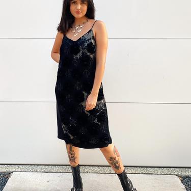 Black Floral Dries Van Noten Silk Dress
