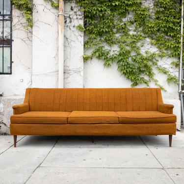 Original 1960's Vintage Burnt Orange Sofa