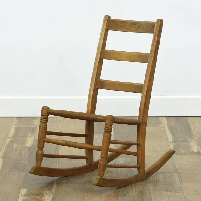Ladderback Rocking Chair W/ Rush Seat