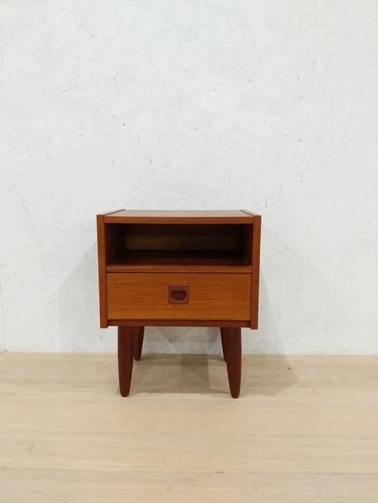 Vintage Danish Modern Teak Nightstand / Side Table by FarOutFindsNYC