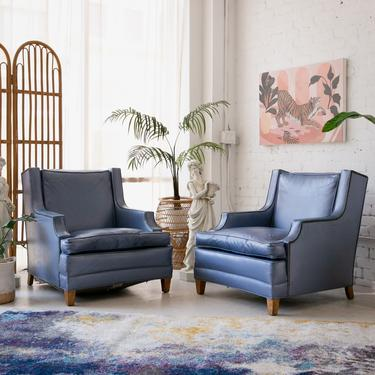 Blue 1960's Club Chairs