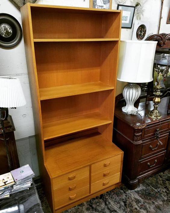 Danish Modern Bookcase, $227.