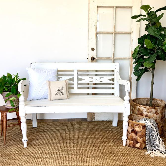 Farmhouse Bench - Beach Home Furniture by VintageHipDecor
