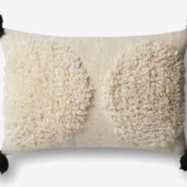 Ivory/Black Pillow