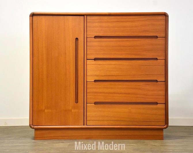 Danish Teak Armoire Dresser by mixedmodern1
